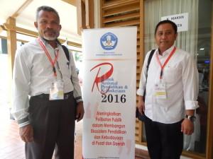 Kadisdik Kota Depok bersama Kadisdik Kab Halmahera Selatan Maluku Utara Saban Ali