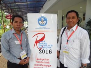 Kadisdik Kota Depok bersama Kadisdik Kota Bima NTB Alwi Yasin