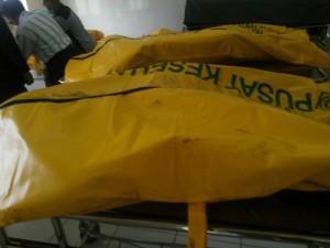 Jenazah korban ledakan di RS AL Miintoharjo, Jakarta