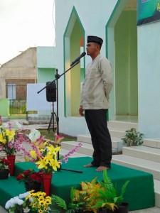 Dandim 1004 Kotabaru Letkol Inf Agus Supriyono saat memberikan sambutan