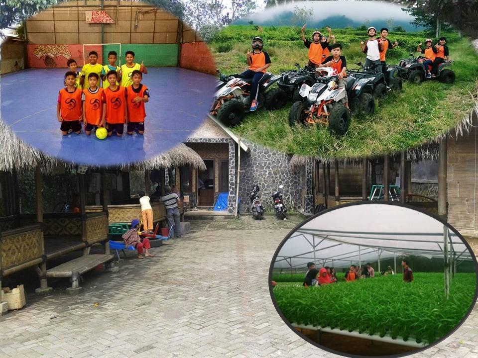 fasilitas dan sarana bermain dan belajar di Pesantren Alam Pangrango