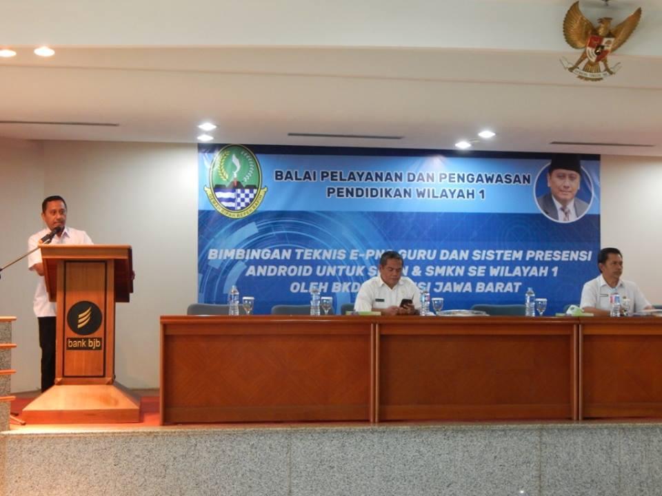 Kepala Balai Wilayah I, Herry Pansila saat membuka Sosialisasi Absensi online Berbasis Android