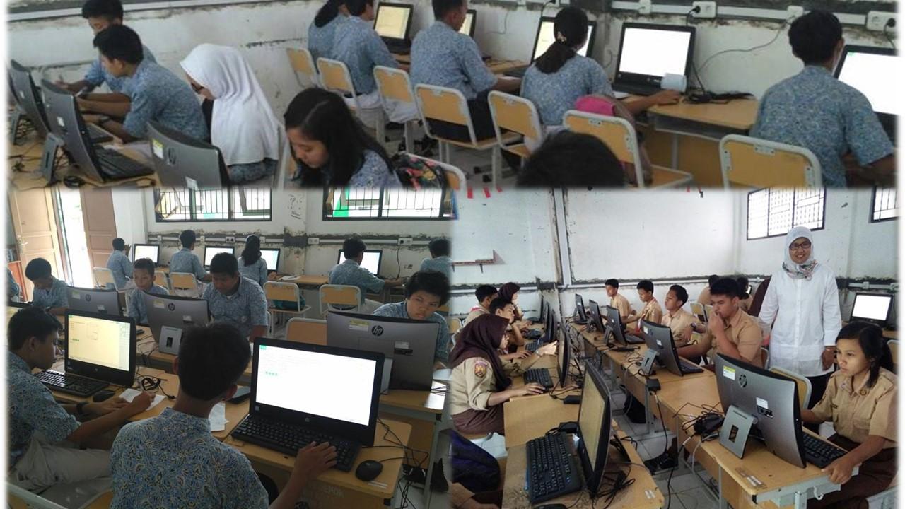 Simulasi UNBK di SMPN 19