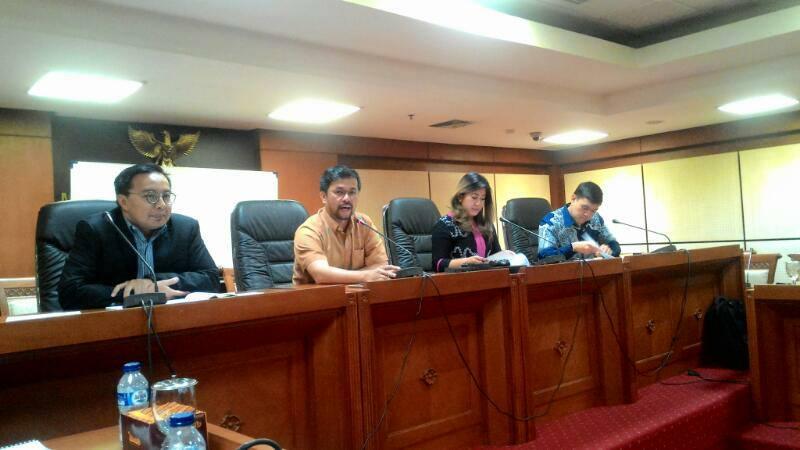 Komisi I DPR RI saat audiensi dengan FPII