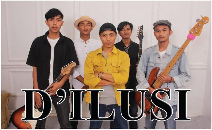D'ILLUSI Band di gawangi oleh lima personil anak-anak muda berprestasi dibidangnya