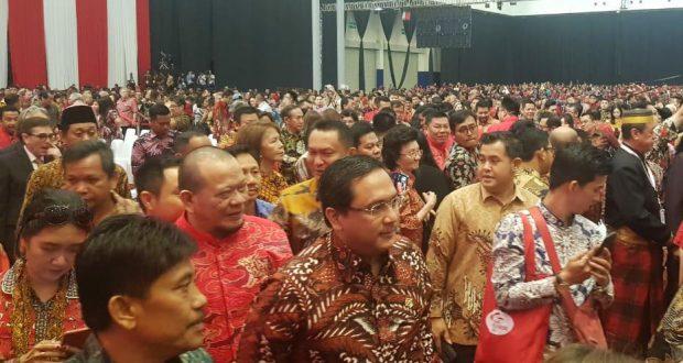 Ketua BPK (Badan Pemeriksa Keuangan) RI Dr. Agung Firman Sampurna saat menghadiri perayaan Imlek Nasional 2020
