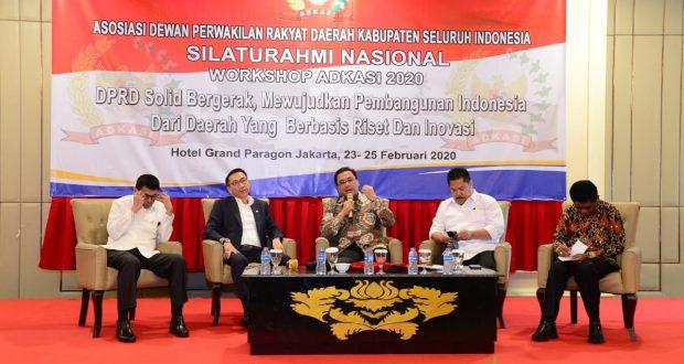 Ketua BPK menjadi narasumber dalam acara Silaturahmi Nasional Asosiasi Dewan Perwakilan Rakyat Daerah Kabupaten Seluruh Indonesia di Jakarta.