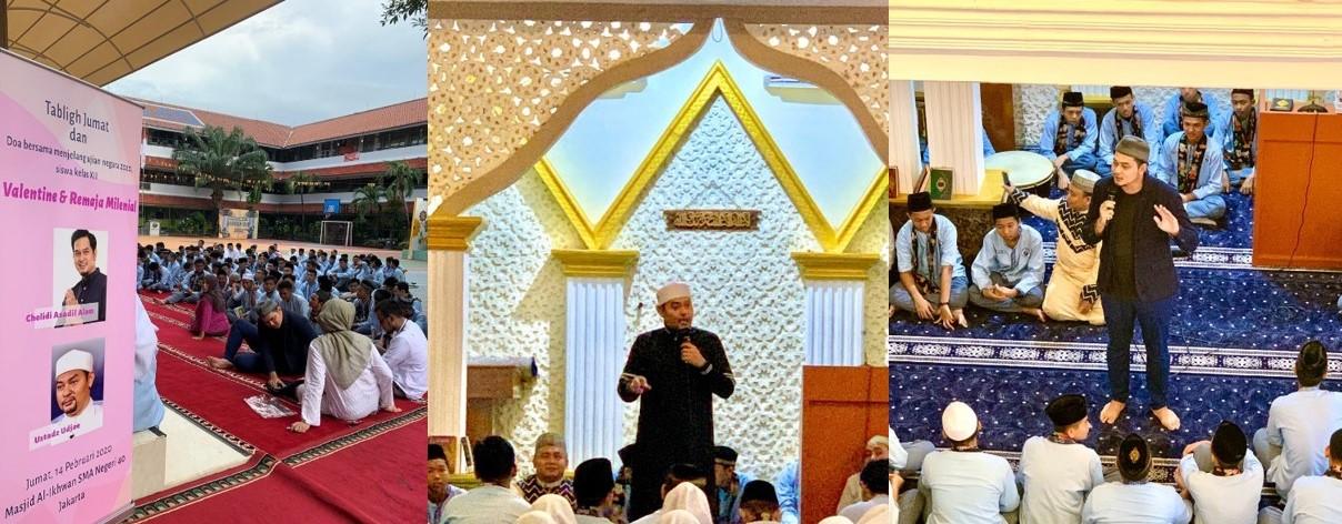Ustad Udjae memberikan tausiah tentang valentine's day menurut Islam