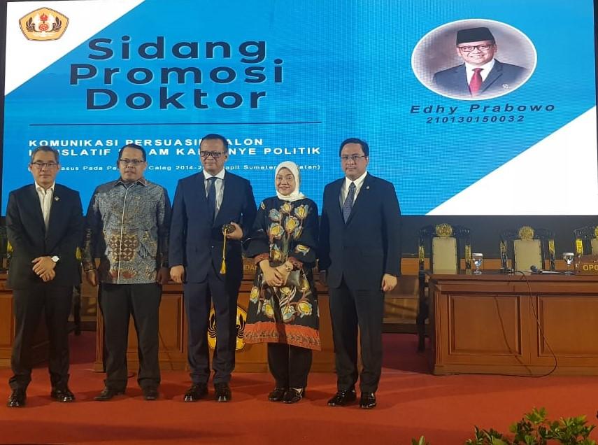 Promosi Doktor Ilmu Komunikasi Edhy Prabowo dihadiri Ketua BPK RI Dr. Agung Firman Sampurna