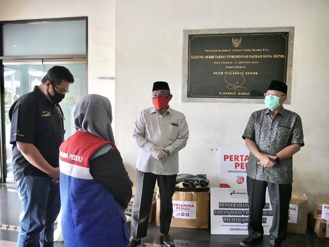 Pemkot Depok Terima Bantuan APD dari PT Pertamina